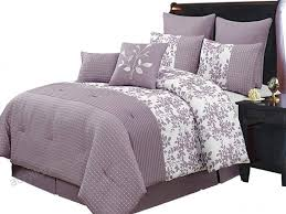 royal hotel bliss purple and white twin extra long size luxury 6 piece comforter set includes
