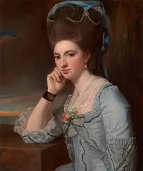 the athenaeum portrait of a lady george romney polonaise portrait of a young w in powder blue ca by george romney english portrait painter of the late century source fergus hall master paintings