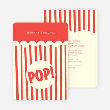 Movie Night And Popcorn Party Invitations Paper Culture