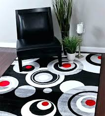 bold modern rugs black circles area rug with contemporary