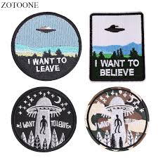 <b>ZOTOONE UFO Alien</b> Patches for Clothing Backpack Iron on ...