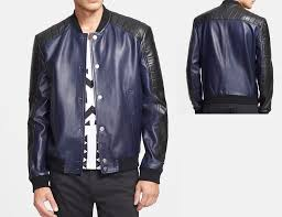 two tone leather moto jacket 98081 zoom helmet