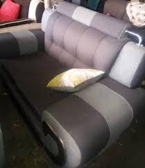 silver metal ed brown sofa order