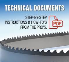 Technical Documents Bandsawbladesdirect Com