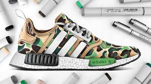 adidas shoes drawing. drawing bape x adidas nmd shoes