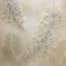 arthouse sirius wallpaper gold 673601 an elegant feather design