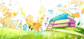 cartoon background cartoon book ladder background image