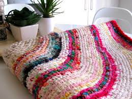 learn how to make a finely woven and colourful rag rug just like this one