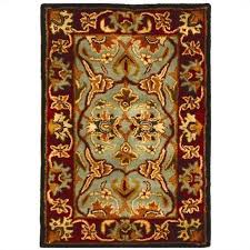 safavieh heritage accent rug in light blue red