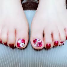 春夏パーティーフットフラワー Abbieのネイルデザインno3230596
