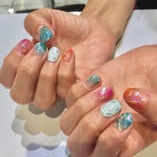 ネイル画像夏秋ネイルzaza 高田馬場店美容院美容室