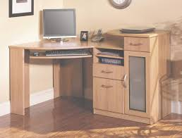 office corner workstation. Home Office Corner Desk. Wood Desk With Keyboard Tray And Small Cabinet Workstation F
