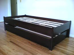 Black Twin Roll Out Trundle Bed Frame Queen 69 Bt40t ~ Ananthaheritage