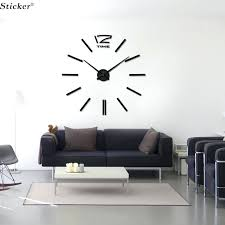 mirror wall clock whole mirror wall clock stickers acrylic big sticker home decoration mirror surface sticker
