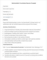 Coordinator Skills Resume – Foodcity.me