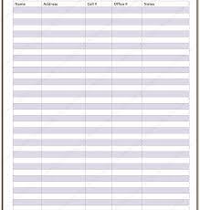 Contact List Spreadsheet Template Best Photos Of Phone Contact List Printable Free Printable