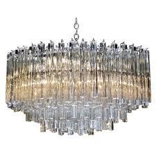 huge oval venini italian triedi crystal prism chandelier for