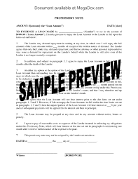 Promissory Note Template For Family Member Promissory Note For Family Loan Payable From Estate