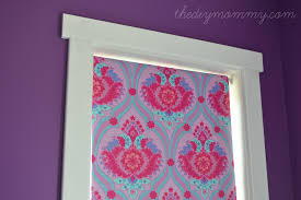 fabric window shades diy. Modren Shades DIY NoSew Fabric Covered Blackout Roller Blinds By The Mommy Just Use Intended Window Shades Diy D