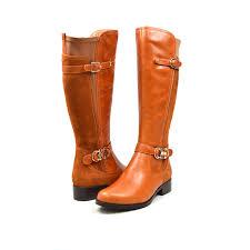 solemani women s valentino slim 13 calf cognac leather boot