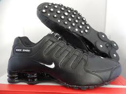 nike shox nz eu mens 501524 091 leather running shoes black size 10 thespot917
