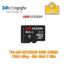 Thẻ nhớ HIKVISION 64GB 92MB/s - Chính Hãng - Bảo Hành 2 Năm - Thẻ nhớ máy  ảnh