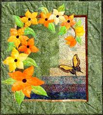 Free Easy Quilt Patterns | Array of Color - easy flower applique ... & Free Easy Quilt Patterns | Array of Color - easy flower applique quilt  pattern for beginner Adamdwight.com