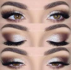 brown silver smoky eyes with sparkle wedding makeup en 2019 maquillage bal maquillage mariage et trucs de maquillage
