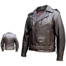 allstate leather inc men s retro brown motorcycle jacket