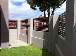 Small Picture blockwork rendered designer fence with stackstone feature stone