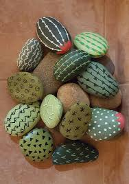 Painted rock cactus More