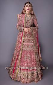 Lehenga Design 2018 Pakistani Kundan Work Lehenga Designs By Fahad Hussayn 1 Stylesgap Com