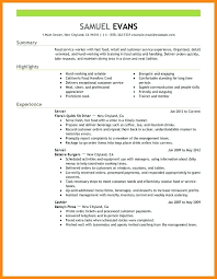 Bistrun : Unforgettable Server Resume Examples To Stand Out ...