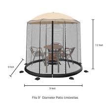 pure garden 9 ft patio umbrella