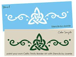 image is loading stencil 6 034 tall celtic trinity knot heart  on irish wall art decor with stencil 6 tall celtic trinity knot heart swirl border irish wall