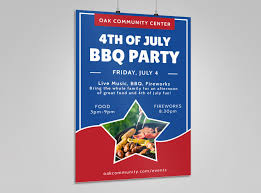 Bbq Poster 4th Of July Bbq Poster Template Mycreativeshop