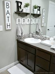 bathroom decor. Fine Bathroom Farmhouse Style Bathroom Decor With T