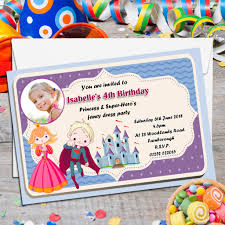 superheroes birthday party invitations 10 personalised princess super hero s birthday party photo