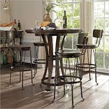 round pub table with storage