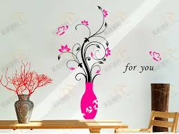 wall decals wall stickers show an unique wall art murals decor beautiful flowers and vase home decoration removable diy design in wall stickers from home  on beautiful wall art decor with wall decals wall stickers show an unique wall art murals decor