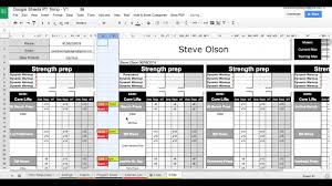 Google Sheets Personal Training Templates Exercise Dropdowns
