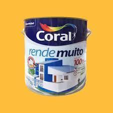 Uso indicado, o produto foi desenvolvido tanto para ambientes internos como externos. Tinta Acrilica Rende Muito Exterior Interior Standard Fosca Amarelo Frevo 3 6 Litros Coral Wermar Materiais De Construcao