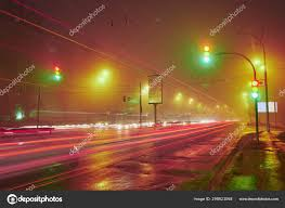 Stop Light At Night Traffic Light At Night Stock Photo Badahos 298821068