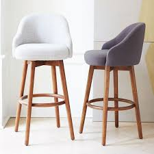 kitchen bar chairs. Inspired By Mid-century Design, Our Saddle Bar + Counter Stool\u0027s Modern Form And Clean Aesthetic Bring A Casual Elegance To Kitchen Islands. Chairs O