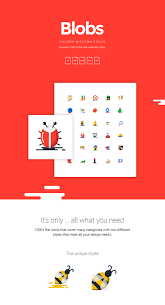 blobs a collection of 1000 free flat icons in countless colors and 2 styles basic icons flat icons 1000