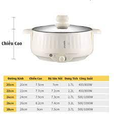 CHÍNH HÃNG ] Nồi Lẩu Mini Cắm Điện Đa Năng Lớp Chống Dính Teflon Cao Cấp  Tặng Kèm 7 Món Siêu Tiện Lợi NL02 giá cạnh tranh