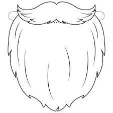 Disegno Di Maschera Barba E Baffi Da Babbo Natale Da Colorare