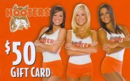 2010 12 piece hooters gift card set 1 logo card