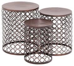 new outdoor metal side table inside brilliant black coffee regarding prepare 13