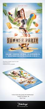 Summer Party Flyers Summer Party Flyer Zokidesign